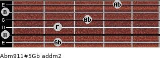 Abm9/11#5/Gb add(m2) guitar chord