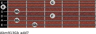 Abm9/13/Gb add(7) guitar chord