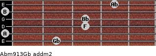 Abm9/13/Gb add(m2) guitar chord