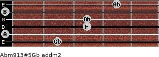 Abm9/13#5/Gb add(m2) guitar chord