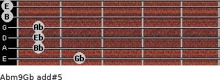 Abm9/Gb add(#5) guitar chord