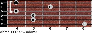 Abmaj11/13b5/C add(m3) guitar chord