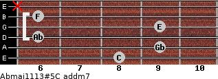 Abmaj11/13#5/C add(m7) guitar chord