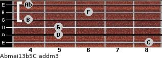 Abmaj13b5/C add(m3) guitar chord