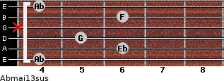 Abmaj13sus for guitar on frets 4, 6, 5, x, 6, 4