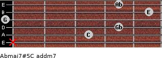 Abmaj7#5/C add(m7) guitar chord