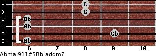 Abmaj9/11#5/Bb add(m7) guitar chord