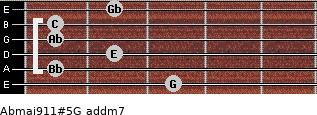 Abmaj9/11#5/G add(m7) guitar chord