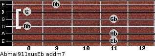 Abmaj9/11sus/Eb add(m7) guitar chord