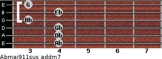Abmaj9/11sus add(m7) guitar chord