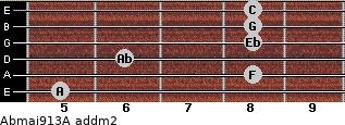 Abmaj9/13/A add(m2) guitar chord