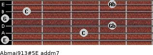 Abmaj9/13#5/E add(m7) guitar chord