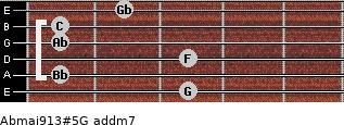 Abmaj9/13#5/G add(m7) guitar chord