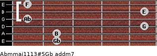 Abm(maj11/13)#5/Gb add(m7) guitar chord