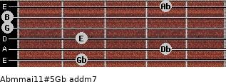Abm(maj11)#5/Gb add(m7) guitar chord