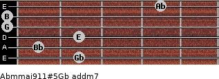 Abm(maj9/11)#5/Gb add(m7) guitar chord