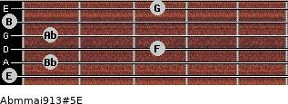 Abm(maj9/13)#5/E for guitar on frets 0, 1, 3, 1, 0, 3