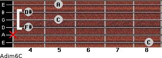 Adim6/C for guitar on frets 8, x, 4, 5, 4, 5