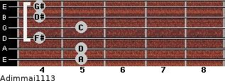 Adim(maj11/13) for guitar on frets 5, 5, 4, 5, 4, 4
