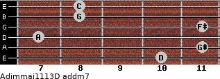 Adim(maj11/13)/D add(m7) guitar chord