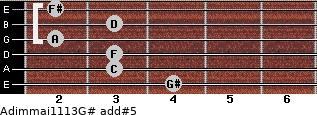 Adim(maj11/13)/G# add(#5) guitar chord