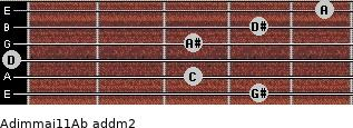 Adim(maj11)/Ab add(m2) guitar chord