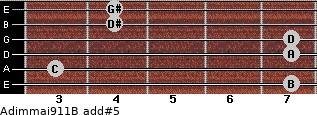 Adim(maj9/11)/B add(#5) guitar chord