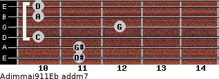 Adim(maj9/11)/Eb add(m7) guitar chord