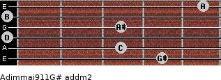 Adim(maj9/11)/G# add(m2) guitar chord