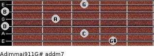 Adim(maj9/11)/G# add(m7) guitar chord