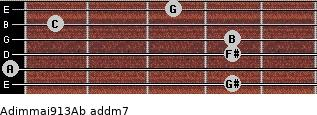 Adim(maj9/13)/Ab add(m7) guitar chord