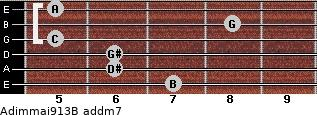 Adim(maj9/13)/B add(m7) guitar chord