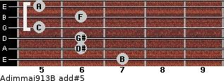 Adim(maj9/13)/B add(#5) guitar chord