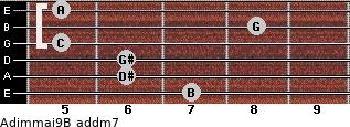 Adim(maj9)/B add(m7) guitar chord