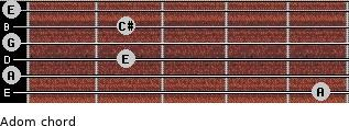 Adom for guitar on frets 5, 0, 2, 0, 2, 0