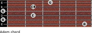 Adom for guitar on frets 5, 0, 2, 0, 2, 3