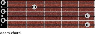 Adom for guitar on frets 5, 0, 5, 0, 2, 0