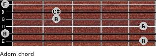 Adom for guitar on frets 5, 0, 5, 2, 2, 0