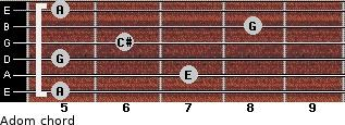 Adom for guitar on frets 5, 7, 5, 6, 8, 5