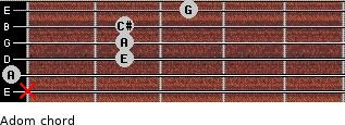 Adom for guitar on frets x, 0, 2, 2, 2, 3