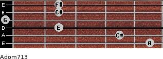 Adom7/13 for guitar on frets 5, 4, 2, 0, 2, 2