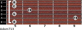 Adom7/13 for guitar on frets 5, 9, 5, 6, 5, 5