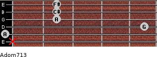 Adom7/13 for guitar on frets x, 0, 5, 2, 2, 2