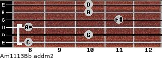 Am11/13/Bb add(m2) guitar chord