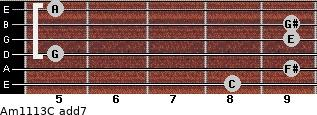 Am11/13/C add(7) guitar chord