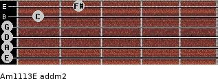 Am11/13/E add(m2) guitar chord