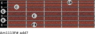 Am11/13/F# add(7) guitar chord