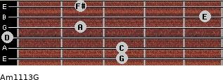 Am11/13/G for guitar on frets 3, 3, 0, 2, 5, 2