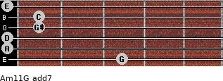 Am11/G add(7) guitar chord