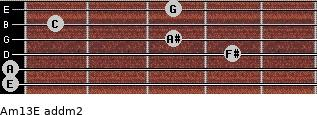 Am13/E add(m2) guitar chord